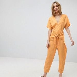 Free People Orange Jumpsuit